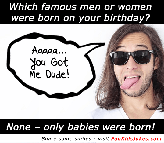 famous men or women born on your birthday.